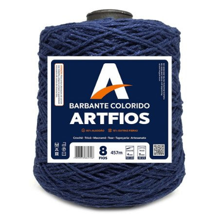 Barbante Artfios 8 Fios 600g Cor Azul