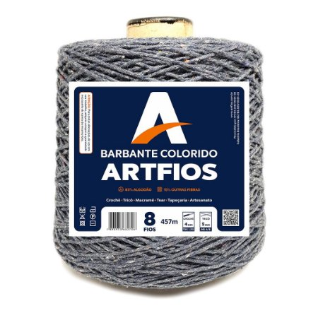 Barbante Artfios 8 Fios 600g Cor Grafite