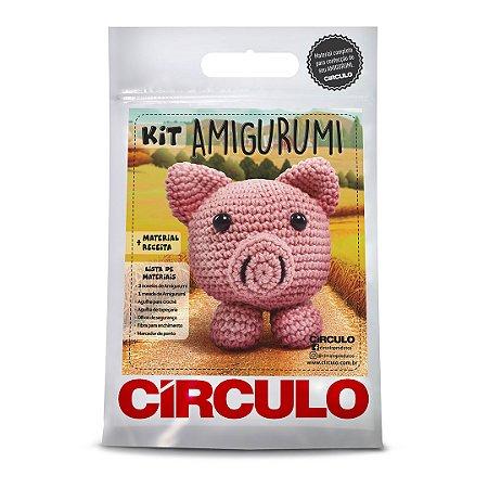 Kit Amigurumi Bichinho Cor 06 - Porco