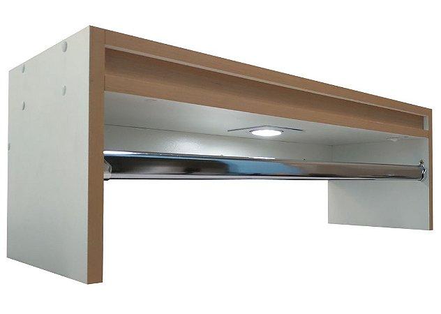 Cabideiro arara de parede - Moderna - Carvalho Treviso
