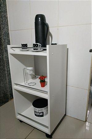 Carrinho auxiliar para cafézinho