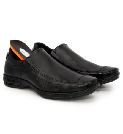 Sapato anatômico comfort anti stress de couro