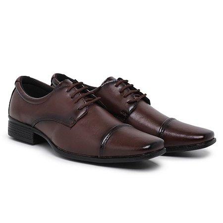 Sapato social Masculino com cadarço café