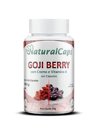 Goji Berry com Cromo e Vitamina A 60 cápsulas - NaturalCaps