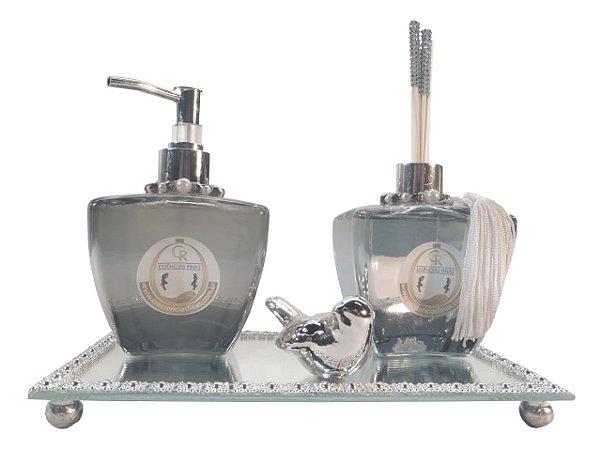 Kit Difusor de Ambientes Luxúria Elegance Reflex Fumê - CR Essências Finas