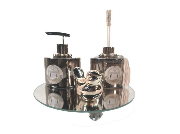 Kit Difusor de Ambientes Luxúria Elegance Reflex Dourada - CR Essências Finas