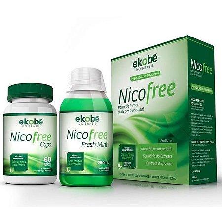 Kit Nicofree Com 60 Cápsulas + Grátis Enxaguante Bucal - Ekobé
