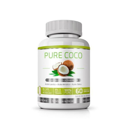 Pure Coco (Óleo de Coco Extravirgem) - 60 Cápsulas de 1000mg - Ekobé