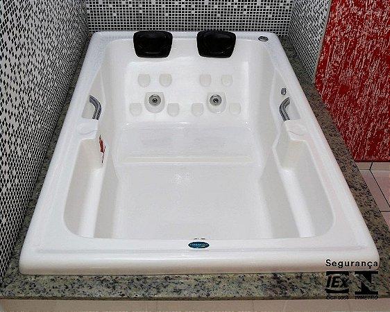 Banheira para Casal Romana Super Luxo com hidro 180x120x45 cm