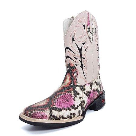Bota Texana Feminina Rosa