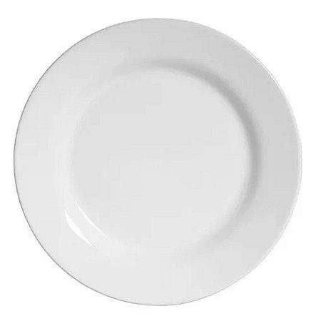 Prato Sobremesa Branco de Melamina 20cm Buffet Hotel