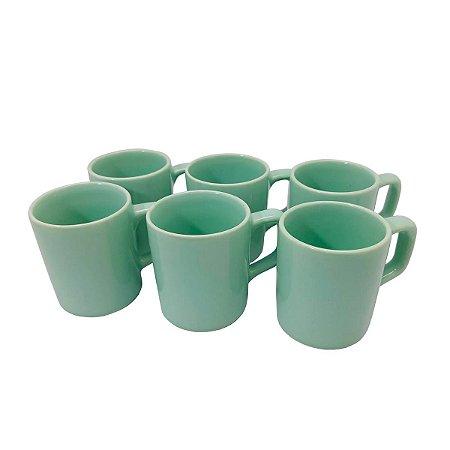Xícaras De Café Porcelana Pequena Cafezinho 80ml - 6 Peças