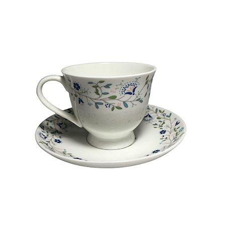 Jogo De 6 Xicaras De Chá Índia Porcelana 170ml