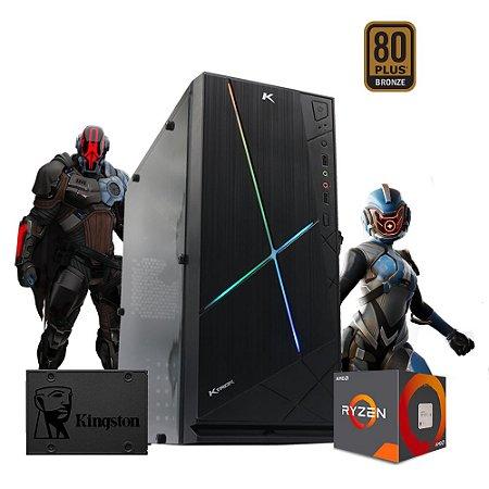 Pc Gamer Cyber Max Amd R5 3400g 8gb ssd 480gb Vega 11