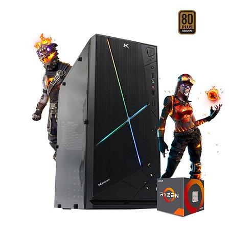 Pc Gamer Ryzen 5 Amd 3400G Vega 11 8gb ssd 240gb Cyber Fire