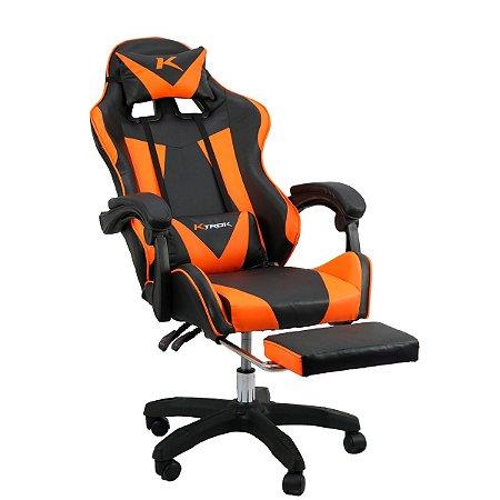 Cadeira Gamer Ktrok ProSeat Giratória Retrátil - Laranja