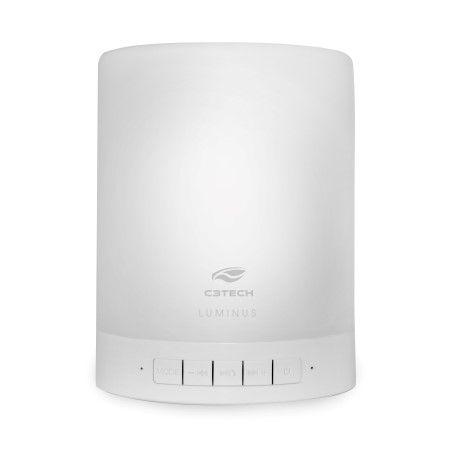 Caixa de som speaker com lâmpada led luminus sp-bl1000wh c3tech
