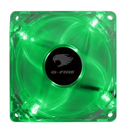 Fan Gamer G-fire 80mm com led Verde ew0408n