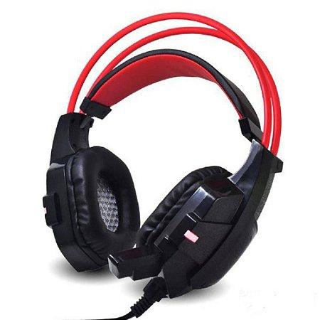 Headset Gamer com microfone e led rgb infokit gh-x20 com adaptador p3 x p2