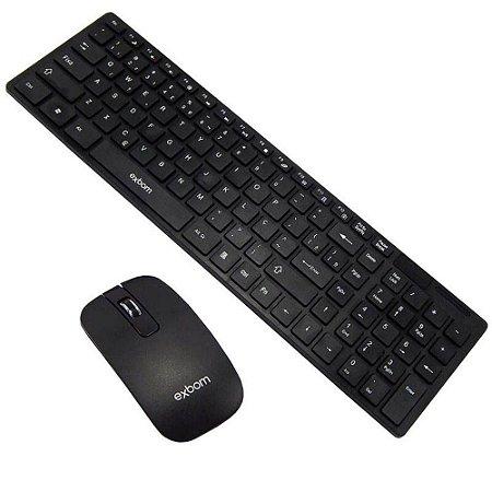 Kit teclado e Mouse sem fio bk-s1000 preto