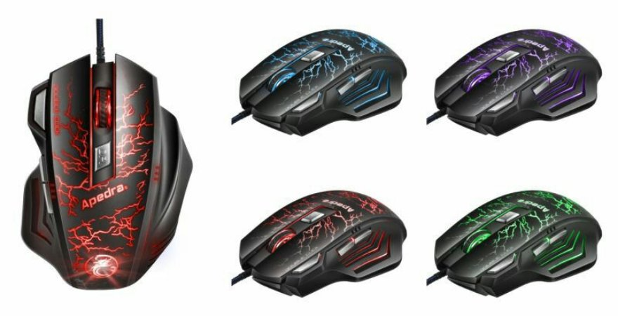 Mouse Gamer a7 shinka com fio 3200dpi multicolor led - a7