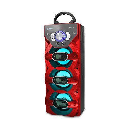 Caixa de som bluetooth wireless bass 18w entrada p/multimídia e p10 portátil cs-m311bt vermelha