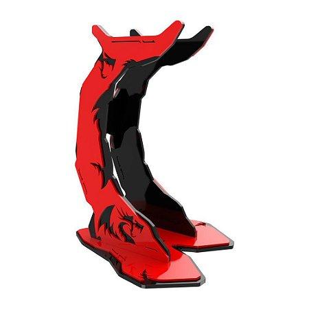 Suporte de headset redragon holder preto e Vermelho - hh1001