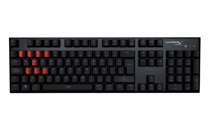 Teclado Gamer Mecanico HyperX Alloy Fps Cherry MX Red US - hx-kb1rd1-naa4