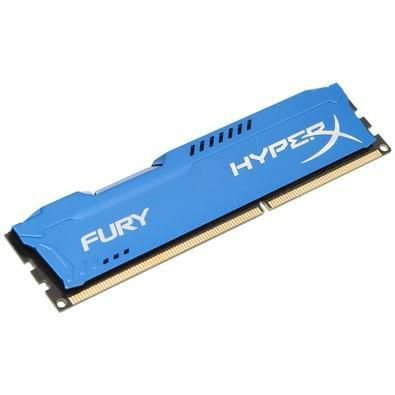 Memória Gamer Kingston HyperX FURY 8GB 1600Mhz DDR3 CL10 Blue - HX316C10F/8