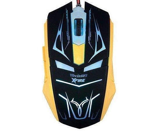 Mouse Gamer TecDrive XFire Neith 3200 DPI 7 Botões
