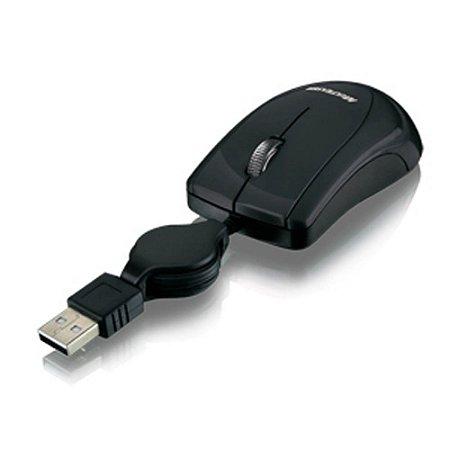 Mini Mouse retrátil USB black piano MO159 - Multilaser