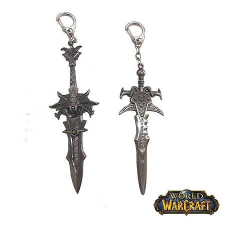 Kit 2 Chaveiros Gamer World Warcraft 01