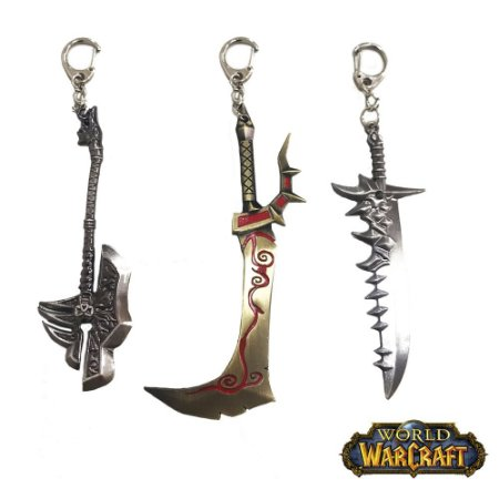 Kit 3 Chaveiros Gamer World Warcraft 02