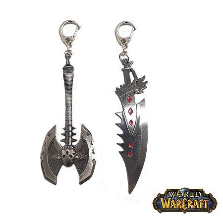 Kit 2 Chaveiros Gamer World Warcraft 05