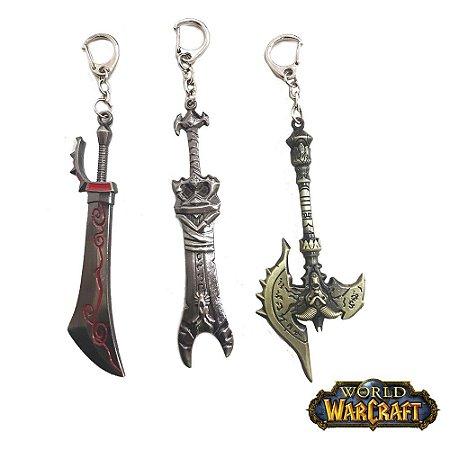 Kit 3 Chaveiros Gamer World Warcraft 08