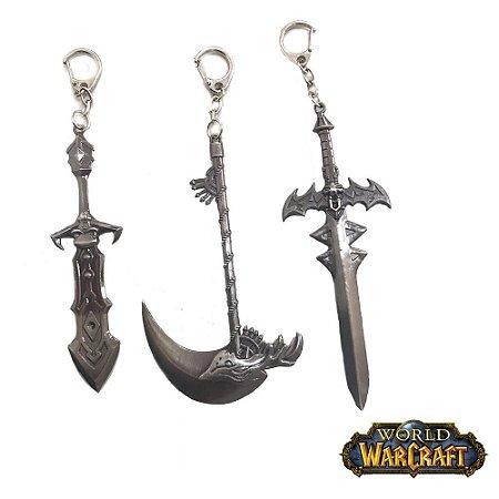 Kit 3 Chaveiros Gamer World Warcraft 09