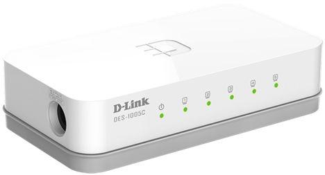 Switch D-link 5 portas 10/100 Mbps não gerenciável DES-1005C