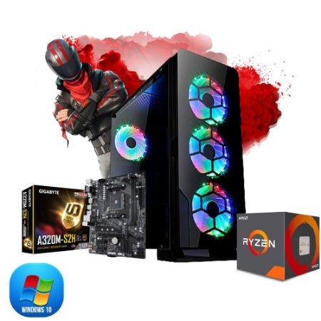Pc Gamer Fortkill Amd Ryzen R3 2200G, 2x 4gb, Hd 500gb