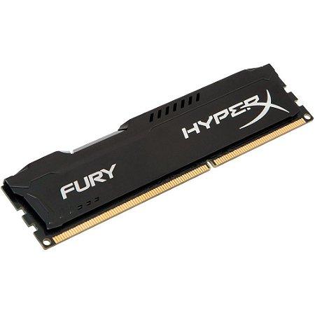 Memória Gamer HyperX FURY 4GB 2400Mhz DDR4 CL10 black-HX424C15FB/4
