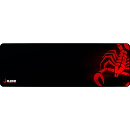 Mouse Pad Gamer Rise Mode Scorpion Red Extended Borda Costurada (900x300mm) - RG-MP-06-SR