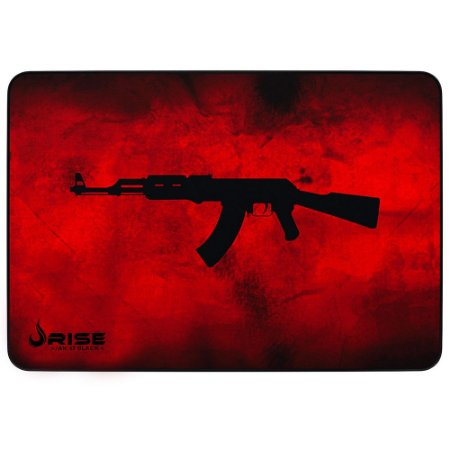 Mouse Pad Gamer Rise Mode Ak47 Red Medio Borda Costurada (290x210mm) - RG-MP-04-AKR