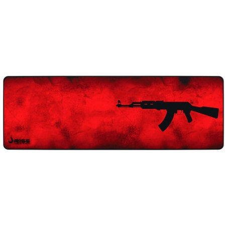 Mousepad Gamer Rise Mode Ak47, Speed, Extra Grande (900x300mm), Vermelho - Rg-Mp-06-Akr