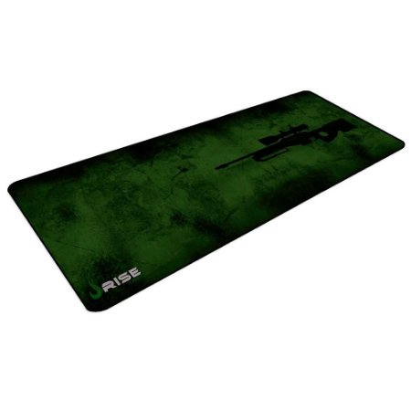 Mouse Pad Gamer Rise Mode Sniper Green Extended Borda Costurada (900x300mm) - RG-MP-06-SNP