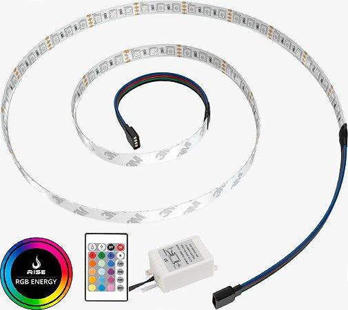 Tira de LED Gamer para Gabinete Rise Mode - RGB 1,25m Sem Fio