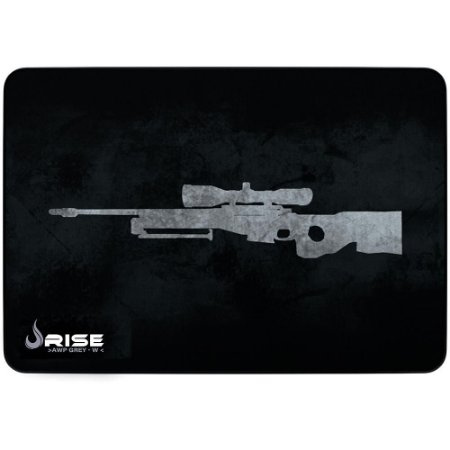 Mouse Pad Gamer Rise Mode Sniper Grey Medio Borda Costurada (290x210mm) - RG-MP-04-SNPG