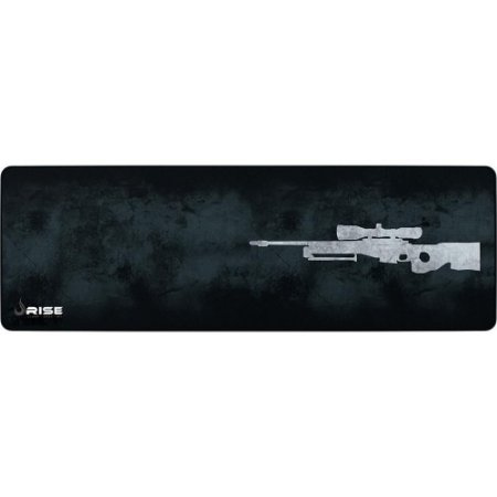 Mouse Pad Gamer Rise Mode Sniper Grey Extended Borda Costurada (900x300mm) - RG-MP-06-SNPG
