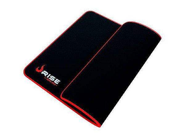 Mouse Pad Gamer Rise Mode Zero Vermelho Medio Borda Costurada (290x210mm) - RG-MP-04-ZR