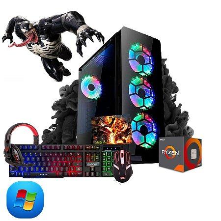 Pc Gamer Megatumii Amd Ryzen R3 3200G, 2x4gb, Hd 500gb, kit gamer semi-mecânico