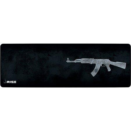 Mouse Pad Gamer Rise Mode Ak47 Grey Extended Borda Costurada (900x300mm) - RG-MP-06-AK