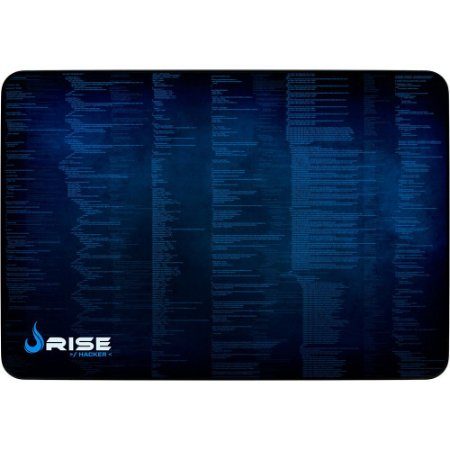 Mouse Pad Gamer Rise Mode Hacker Grande Borda Costurada (420x290mm) - RG-MP-05-HCK